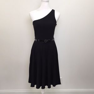 White House Black Market One Shoulder Dress
